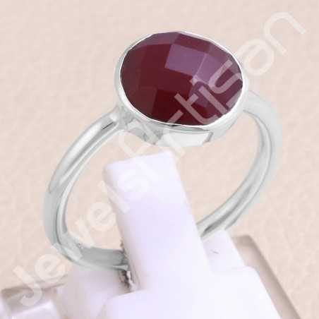 Red Quartz Ring Classic Solitaire Ring 925 Sterling Silver Ring