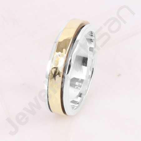 Spinner Ring 925 Sterling Silver Ring Brass Spinner Ring