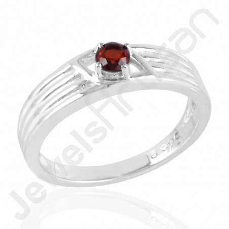 925 Sterling Silver Ring Garnet Gemstone Ring Engagement Ring