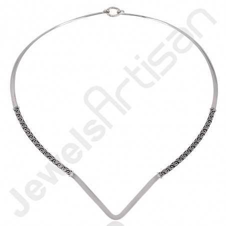 Collar Necklace 925 Sterling Silver Necklace Designer Necklace