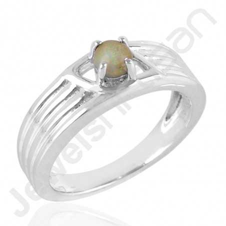 Ethiopian Opal Ring 925 Sterling Silver Ring Prong Set Ring