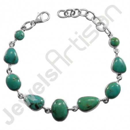 Arizona Turquoise Bracelet 925 Sterling Silver Bracelet Handmade Bracelet