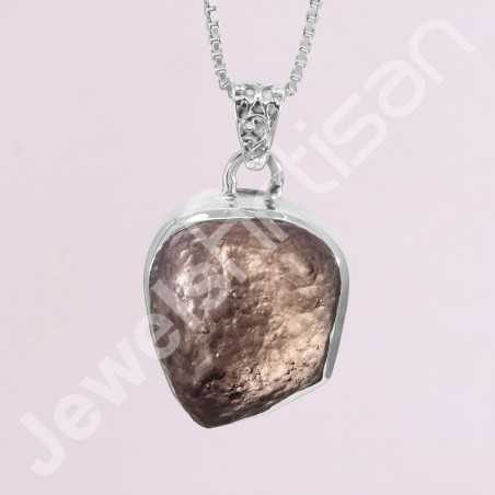 Raw Colombianite Pendant Natural Colombianite Pendant 925 Sterling Silver Pendant