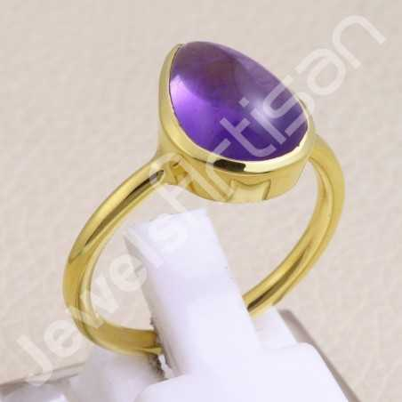 Amethyst Ring 925 Solid Silver Ring Gold Vermeil Ring