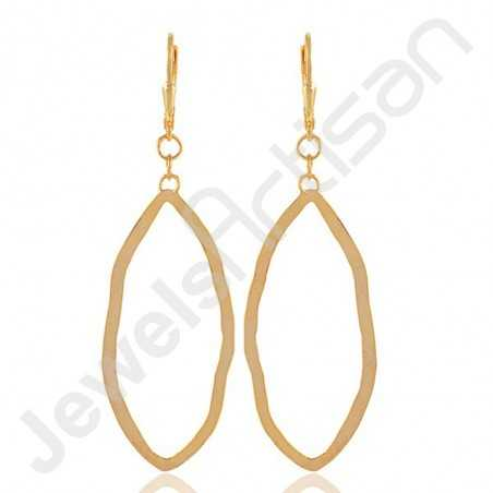 Marquise Designer Earrings Gold Vermeil Earrings 925 Solid Silver Earrings