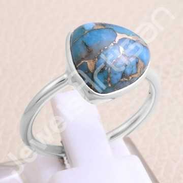 Blue Copper Turquoise Ring...