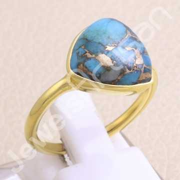 925 Solid Silver Ring Blue...