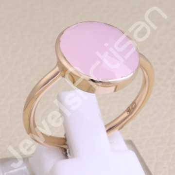 Pink Chalcedony Ring Rose...