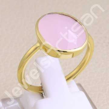 925 Solid Silver Ring Pink...