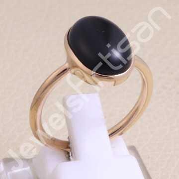 Black Onyx Ring Rose...