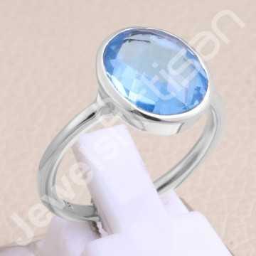 Handmade Silver Ring Blue...