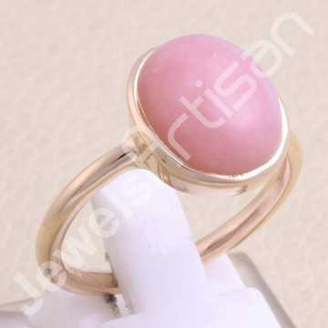 Rose Gold-Plated Ring Pink...