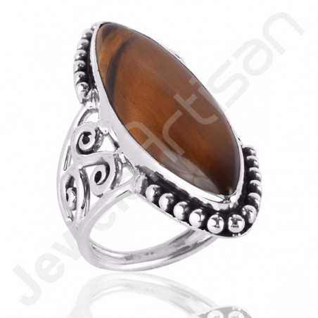 Tiger Eye Ring 925 Sterling Silver Ring Designer Ring
