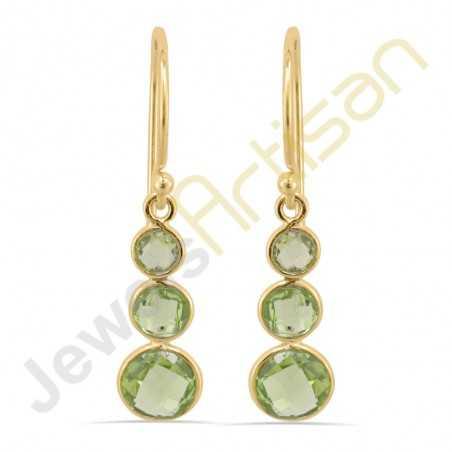 Peridot Earrings Gold Vermeil Earrings August Birthstone Earrings