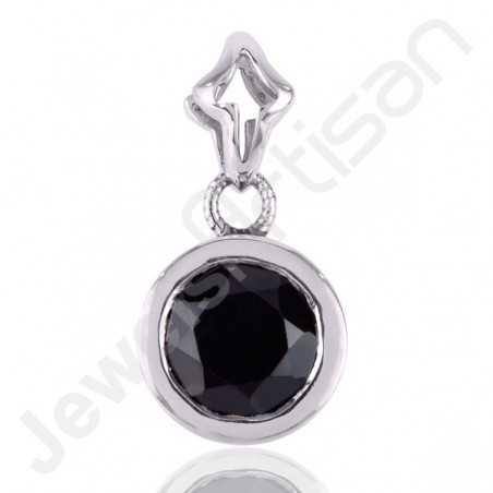 Black Onyx Pendant Drop Pendant 925 Sterling Silver Pendant