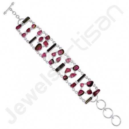 Tourmaline Bracelet Handcrafted Bracelet 925 Sterling Silver Bracelet
