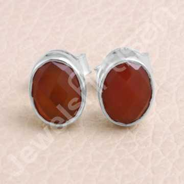 Red Onyx Studs 925 Sterling...