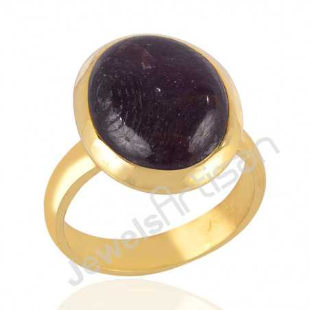 Gold Vermeil Ring Ruby Ring 925 Solid Silver Ring