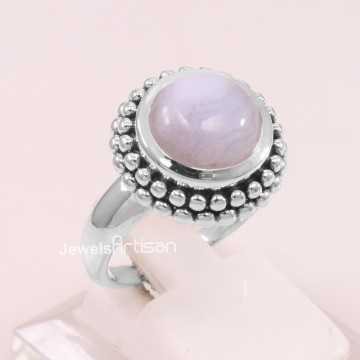 Blue Lace Agate Ring 925...