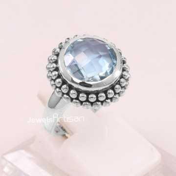 Sky Blue Topaz Ring 925...