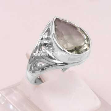 Green Amethyst Ring 925...