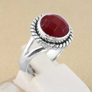 Red Onyx Ring 925 Sterling...