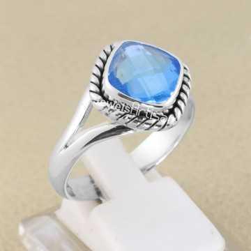 Blue Quartz Ring 925...
