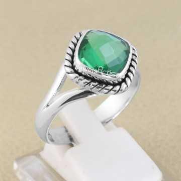Natural Green Quartz Ring...