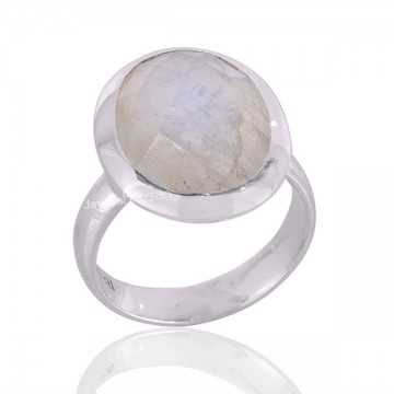 Rainbow Moonstone Ring 925...