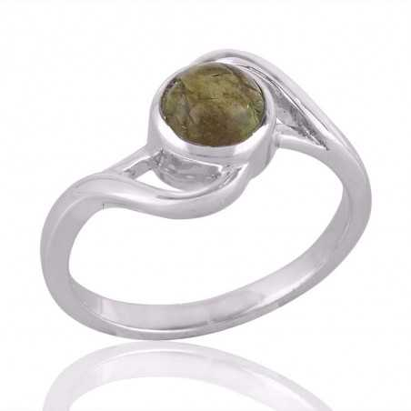 Tourmaline and Sterling Silver Ring for Girls Everyday Wear Ring
