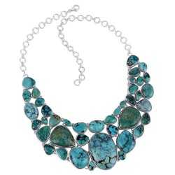 Tibetan Turquoise Necklace December Birthstone Silver Necklace