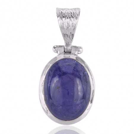 Tanzanite Pendant Sterling Silver Blue Stone Pendant Necklace