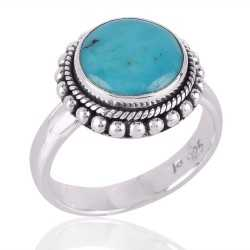 American Turquoise and Solid Silver Ring