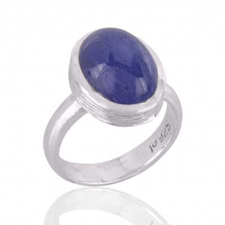Tanzanite Ring Sterling Silver Blue Stone Ring for Womens