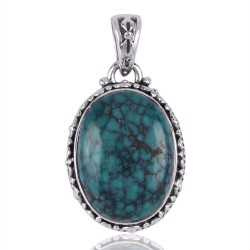 Sterling Silver and Turquoise Wholesale Jewelry Pendant Necklace