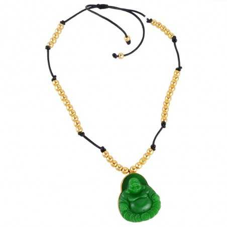 Onyx Carved Buddha Jewelry Gold Plated Beaded Fashion Necklace Jewellery