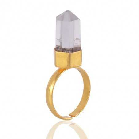 Beautiful Crystal Stone Fashion Ring Gold Plated Jewelry