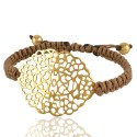 Gold Plated Filigree Mecrame Bracelet Fashion Jewelry