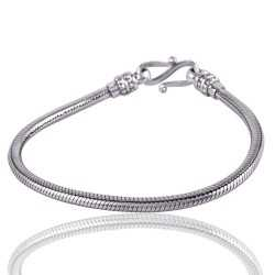 925 Sterling Silver Snake Chain Bracelet S Lock Closer