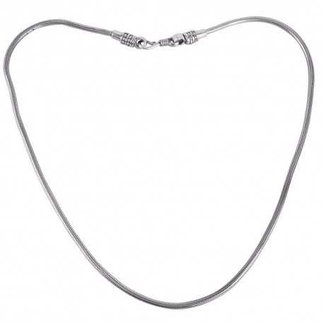 925 Solid Sterling Silver Snake Chain Necklace