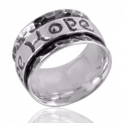 Solid 925 Silver Mens Spiner Ring Hope Ring for Womens