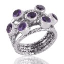 Assorted Amethyst Ring Sterling Silver Designer Ring