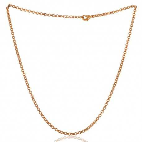 18K Gold Plated Link Chain 16 Inch Long