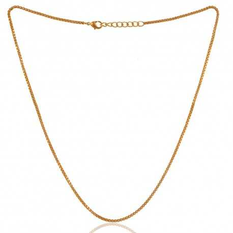 Yellow Gold Plated Chain With Closer 16 Inch Long