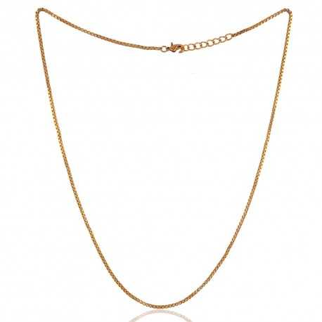 Yellow Gold Plated Chain With Closer 18 Inch Long