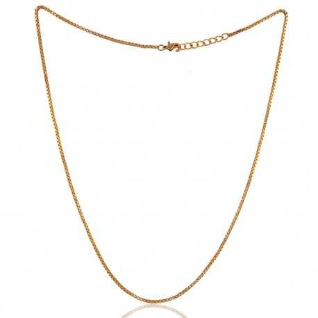 Yellow Gold Plated Chain With Closer 20 Inch Long