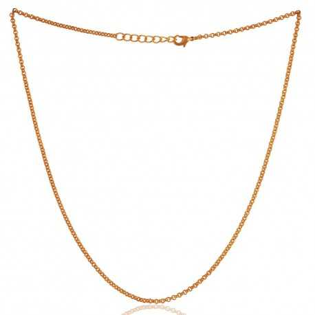 18 Inch Long Gold Plated Chain to Wear Everyday