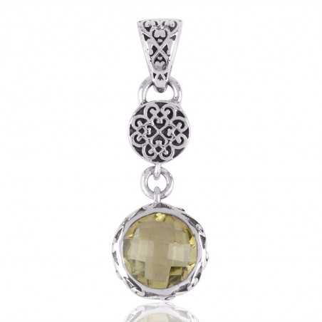 Lemon Quartz and 925 Silver Filigree Designer Silver Dangle Pendant Locket