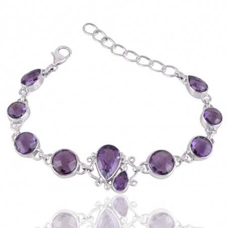 Sterling Silver and Amethyst Beautiful Bracelet