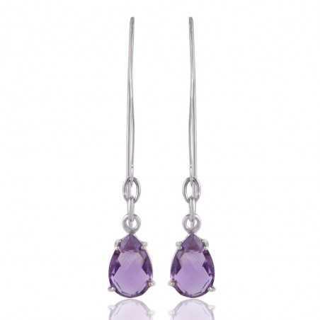 Amethyst Gemstone 925 Sterling Silver Earring